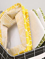 cheap -factory direct storage basket square desktop cotton storage basket fabric storage basket lattice waterproof debris sorting box