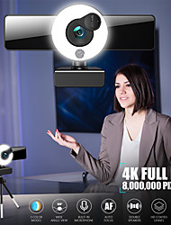 cheap -Webcam 8809 Mini Web Camera For Computer Laptop With Microphone Auto Focus Ring Light Video Webcam 1080P 2K Live Broadcast Web Cam 4K Version