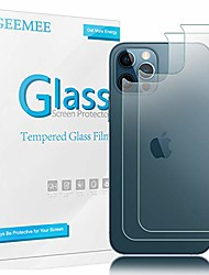 cheap -Phone Screen Protector For Apple iPhone 13 12 Pro Max 11 SE 2020 X XR XS Max 8 7 Tempered Glass 2 pcs High Definition (HD) Scratch Proof Back Protector Phone Accessory