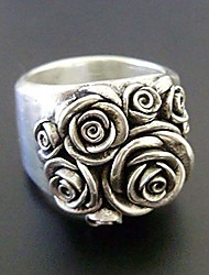 cheap -sdouefos retro 18k white gold plating vintage 3d rose flower ring jewelry gifts statement ring for women girls (6)