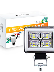 cheap -OTOLAMPARA 2 in 1 Function Car 36W LED Work Light Aluminium Material IP67 Waterproof Double Colors LED Warning Lights for Trailer Truck SUV Pick-up Heavy Duty 1pcs
