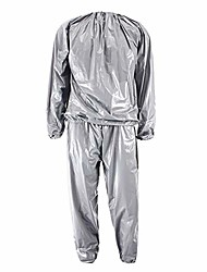 cheap -dmd sauna sweat suit weight loss gym fitness exercise suit workout for men and women - xl