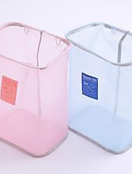 cheap -Punch-free Wall-mounted Laundry Basket Simple Bathroom Storage Basket Sundries Storage Basket Mesh Laundry Basket 35x26x18cm