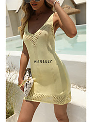cheap -2021 summer new european and american foreign trade cross-border women's large size backless knitted beach skirt holiday seaside blouse women