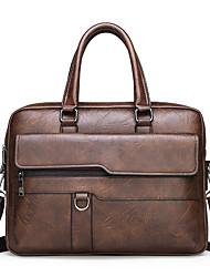 cheap -Men's Bags Top Handle Bag Office & Career Handbags Black Khaki Brown
