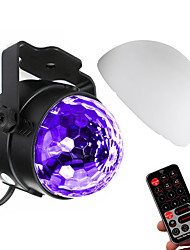 cheap -Magic Ball Stage Light UV 3 LEDs Disco Stage Light Fixture Effect Lighting with Lampshade and Remote Controller Auto Sound Control for DJ Show Concert Party at Home