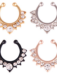 cheap -stainless steel nose lip ring hinged clicker segment septum hoop cartilage tragus sleeper earrings body piercing jewelry braided 10mm