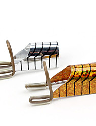 cheap -5Pcs/set Reusable Nail Extension Finger Rest Metal Aluminum Tray Acrylic Tip Women Aluminum Nail Art Extension Form Stencil Manicure