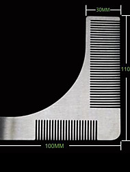 cheap -Stainless Steel Beard Comb Beard Styling Template Creative Comb Right Angle Comb Men Beard Grooming Tool