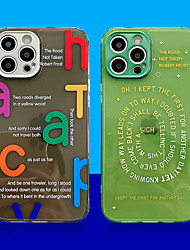 cheap -Phone Case For Apple Back Cover iPhone 12 iPhone 12 Pro Max iPhone 12 Pro Shockproof Dustproof Plating Word / Phrase TPU