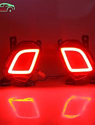 cheap -OTOLAMPARA 1 Set Car LED Brake Lights Bulbs for Toyota Highlander 2015-2019 Year OEM Tail Light Upgraded COB LED Super Lightness Red Color IP68 Waterproof