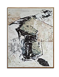 cheap -Oil Painting Handmade Hand Painted Wall Art Retro Abstract Home Decoration Decor Stretched Frame Ready to Hang