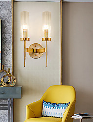 cheap -LED Wall Light Matte Modern Nordic Gold Glass Wall Sconces Bedroom Dining Room Iron Wall Light 110-120V 220-240V