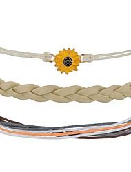 cheap -3pcs Women's Bracelet Geometrical Heart Stylish Simple Boho Plastics Bracelet Jewelry khaki For Daily Promise / Fur