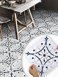 cheap -8pcs Creative Kitchen Bathroom Living Room Floor Stickers Non-slip Waterproof And Wear-resistant Plain Blue Terrazzo Floor Stickers