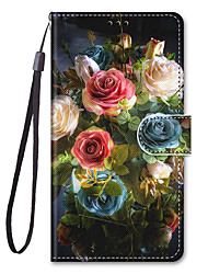 cheap -Phone Case For Apple Full Body Case Leather Wallet Card iPhone 12 Pro Max 11 SE 2020 X XR XS Max 8 7 6 Wallet Card Holder with Stand Flower / Floral PU Leather TPU