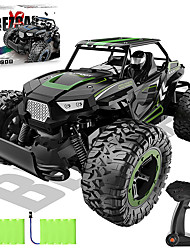 cheap -1:14 Scale Remote Control Car, 2WD High Speed 20 Km/h All Terrains Electric Toy Off Road RC Monster Vehicle Truck Crawler with Two Rechargeable Batteries for Boys Kids and Adults