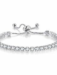 cheap -gemosa tennis bracelets for women white gold plated diamond aaa+ cubic zirconia cz dainty classic adjustable slider bracelet silver fashion jewelry wedding gift…
