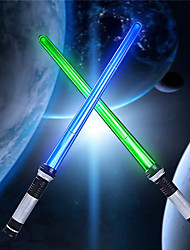 cheap -Light Up Saber 2-in-1 LED FX Double Laser Sword with Motion Sensor FX Sound Effect LED Double Lightsaber Retractable Suitable for Birthday Gifts Halloween Parties for Children