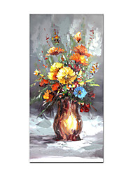 cheap -Oil Painting Handmade Hand Painted Wall Art Abstract Still Life Beautiful Flower Bonsai Home Decoration Decor Rolled Canvas No Frame Unstretched