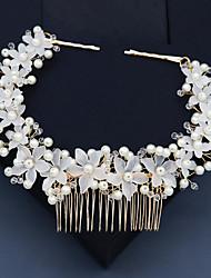 cheap -Retro Sweet Imitation Pearl / Rhinestone / Alloy Headbands / Headpiece / Hair Accessory with Faux Pearl / Crystal / Rhinestone / Floral 1 PC Wedding / Party / Evening Headpiece