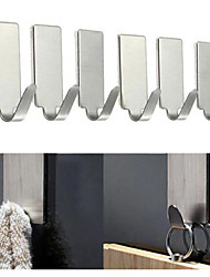 cheap -12pcs Adhesive Stainless Steel Towel Hooks Family Robe Hanging Hooks Hats Bag Family Robe Hats Bag Key Adhesive Wall Hanger