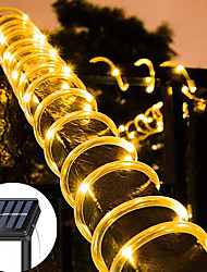 cheap -Outdoor Solar String Lights 12M 7M Solar Powered IP65 Rope Tube String Lights Outdoor Lighting Waterproof Fairy Flexible Lights 50/100 LEDs For Garden Garland Yard Lawn Fence Colorful Decoration
