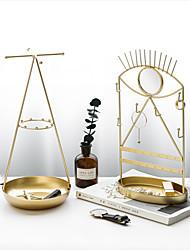 cheap -Gold Iron Jewelry Storage Rack Geometric Luxury Metal Jewelry Bedroom Display Rack