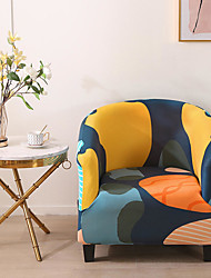 cheap -Stretch Club Chair Cover Slipcover Armchair Barrel Tub Chair Geometric Soft Durable Washable