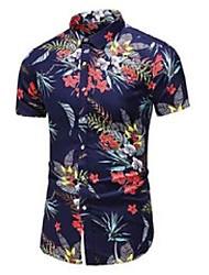 cheap -plus size 5xl 6xl 7xl summer men's hawaiian short-sleeved shirt fashion casual flower shirt male brand clothes 210522