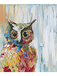 cheap -Oil Painting Handmade Hand Painted Wall Art abstract animal Home Decoration Dcor Stretched Frame Ready to Hang