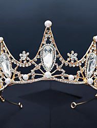 cheap -Retro Sweet Rhinestone / Alloy Tiaras / Headbands with Faux Pearl / Crystal / Rhinestone / Split Joint 1 PC Wedding / Party / Evening Headpiece