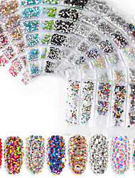 cheap -Nail Art Jewelry Flat Glass Rhinestone Size Assortment A Diamond 12 Bags Nail Art Diamond Jewelry