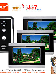 cheap -TUYA Video Intercom WIFI Video Door Phone System Home  Intercom with 7 Inch Touch Screen 3 Monitor AHD 1080P Doorbell