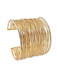 cheap -gold plated long hollow layered multicyclic wire wrap cuff bracelets punk geometric wide refacing polish glossy open adjustable wrist bangle for women girls cool jewelry-a multicyclic