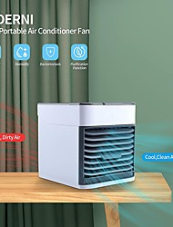 cheap -Home Mini Air Conditioner Portable Air Cooler 7 Colors LED USB Personal Space Cooler Fan Air Cooling Fan Rechargeable Fan Desk Evaporative Portable Air Conditioner