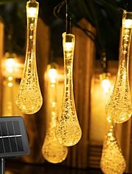 cheap -Outdoor Solar String Light Solar Light Outdoors Droplet Bulbs Waterproof Solar Lamp  RGB Fairy String Solar Lights for Garden Patio Holiday Decor 6.5M-30LEDs 12M-100LEDs  LED Solar Garden Light