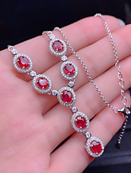 cheap -Pendant Necklace Statement Necklace Women's Layered 18K Gold Plated Wedding Red / White Red / White 16-20 cm Necklace Jewelry 1pc for Gift Daily Engagement Promise