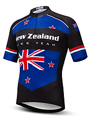 cheap -21Grams Men's Short Sleeve Cycling Jersey Summer Spandex Polyester Blue / Black Sweden Australia National Flag Bike Jersey Top Mountain Bike MTB Road Bike Cycling Quick Dry Moisture Wicking Breathable