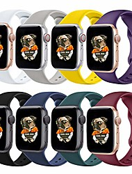 cheap -Smartwatch band silicone bands compatible with apple watch bands 38mm 40mm 42mm 44mm, sport replacement band compatible with iwatch apple watch series 6 5 4 3 2 1 se women men