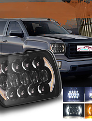 cheap -OTOLAMPARA 5X7 Inches 6x7 Inches Truck Trailer LED Headlight 210W Super Bright Lightness Square Headlight IP68 Waterproof Plug and Play Install for Jeep/ Dodge/ Silverado 1pcs