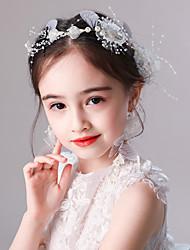 economico -copricapo da bambina per bambina serie sen fiori rosa e bianchi fascia orecchini a farfalla set da sposa nodo accessori per capelli da sposa