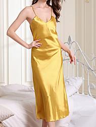 cheap -cross-border direct supply imitation silk nightdress ladies summer suspender skirt v-neck sexy long pajamas home furnishing manufacturers supply