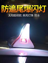 cheap -car decoration lights solar shark fin antenna modified roof tail lights anti-collision led flashing 8 lights