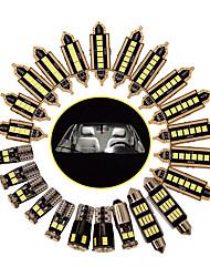 cheap -OTOLAMPARA Car Dome Lamp CAN-bus LED Bulb for BMW E60 E90 F10 F30/ Golf4 Golf7 Interior Light Bulb 6W 3030 6000K Can-bus Error Free License Plate Light T10 LED Bulb 23pcs