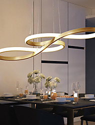 cheap -LED Pendant Light 1-Light 100cm 75cm Acrylic Dimmable Chandelier Adjustable Half Flush Mount Ceiling Hanging Lamp for Home Livingroom Lighting White Black Gold AC110V-240V