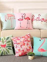 cheap -Double Side Cushion Cover 1PC Faux Linen Soft Decorative Square  Pillowcase for Sofa Bedroom Car Chair Superior Quality Outdoor Cushion for Patio Garden Farmhouse Bench Couch