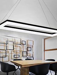cheap -LED Pendant Light Square Circle Design Black Modern Island Light 90 cm Aluminum Dining Room Office Library 110-120V 220-240V