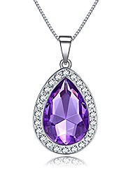 cheap -vcmart amulet teardrop amethyst necklace fashion jewelry gift for girls