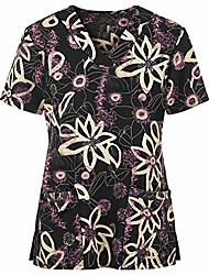 cheap -qifei christmas thanksgiving day uniforms ladies slip-on gowns nursing gowns clinic-bag valueweight t-shirt christmas ladies v-neck slip-on shirt gowns short-sleeved working uniform